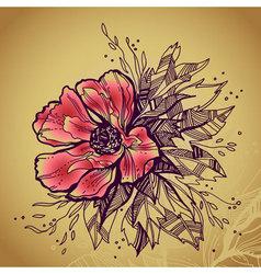 floral sketch vector image vector image