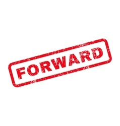Forward text rubber stamp vector