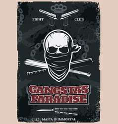Gangstas paradise poster vector