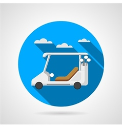 Golf car flat icon vector