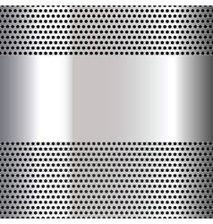 Gray background perforated sheet vector