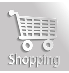 Icon shopping vector