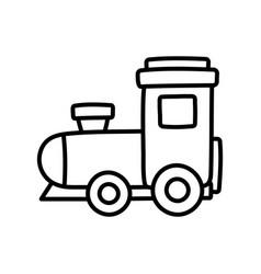 kids toy plastic train wagon object icon thick vector image