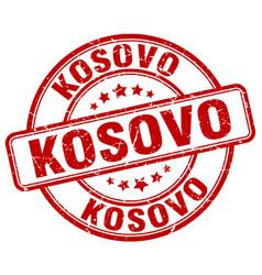 Kosovo red grunge round vintage rubber stamp vector