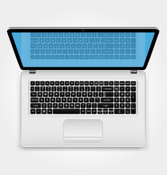 laptop top view vector image