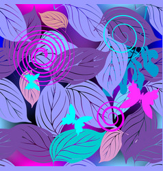 leafy decorative seamless pattern ornamental vector image