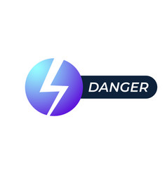lightning electric power logo design element vector image