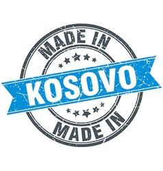 Made in Kosovo blue round vintage stamp vector