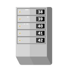 Metallic mailbox array for apartment house vector