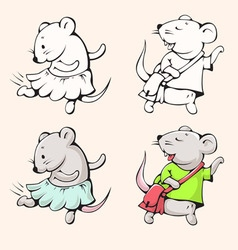 Mice vector image