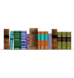 Old books vector