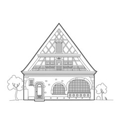 Old typical house design vector