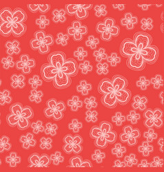 ornamental flowers seamless tile vector image