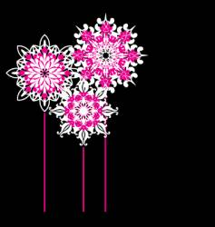 Ornate flowers vector