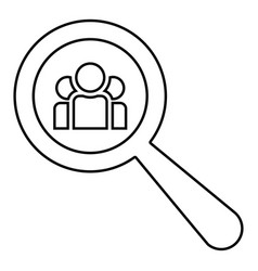 people search icon black color flat style simple vector image
