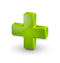 Plus or medical cross symbol vector