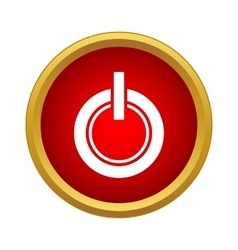 Power button icon in simple style vector image
