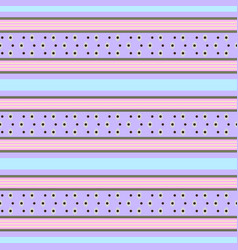 retro pastel pattern with horizontal stripes vector image