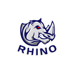 Rhino logo template vector