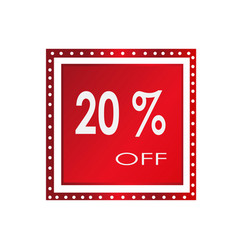sale 20 off banner design over a white vector image