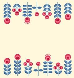 scandinavian flowers vector image