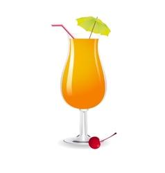 Screwdriver cocktail vector