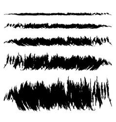 Set black smear vector
