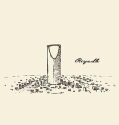 Sketch of riyadh skyline drawn vector
