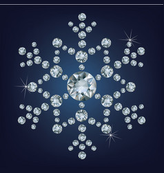 snowflake made a lot of from diamonds vector image