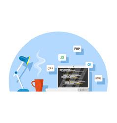 Software development concept vector