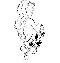 spa woman vector image