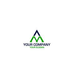 Triangle am logo design vector