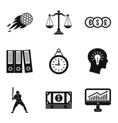 Triumph icons set simple style vector