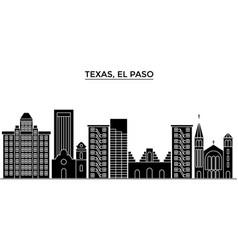 usa texas el paso architecture city vector image