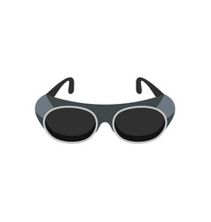 Welding glasses icon flat style vector