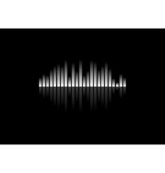 White concept equalizer design on black background vector