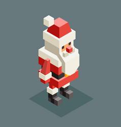 Winter santa claus grandfather christmas character vector