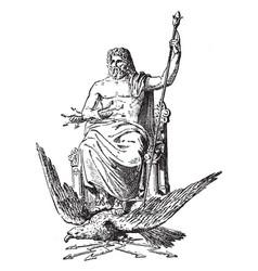 Zeus vintage vector