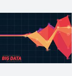 Abstract colorful financial big data vector