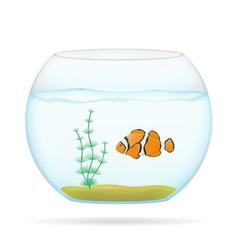 aquarium with fish 01 vector image vector image