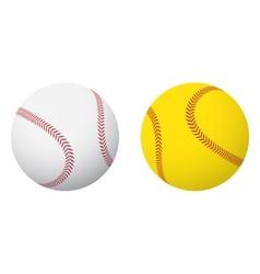 Baseball and Softball Balls vector image