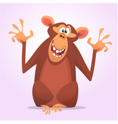cool cartoon monkey character icon vector image vector image