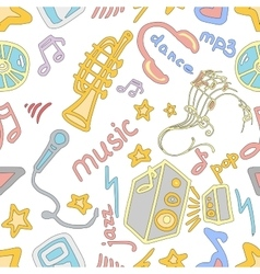 Doodle pattern music vector image vector image