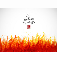 fire grunge splash with place for your text on vector image vector image