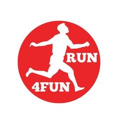 marathon runner run 4fun race vector image