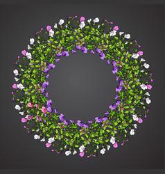 Sweet pea wreath vector