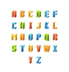 3d retro font vector image
