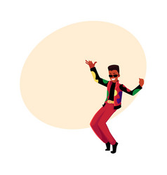 black african man guy in 1980s style clothes vector image vector image