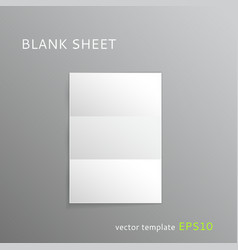 Blank folded paper sheet vector image vector image