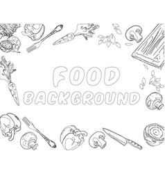 organic food background vector image